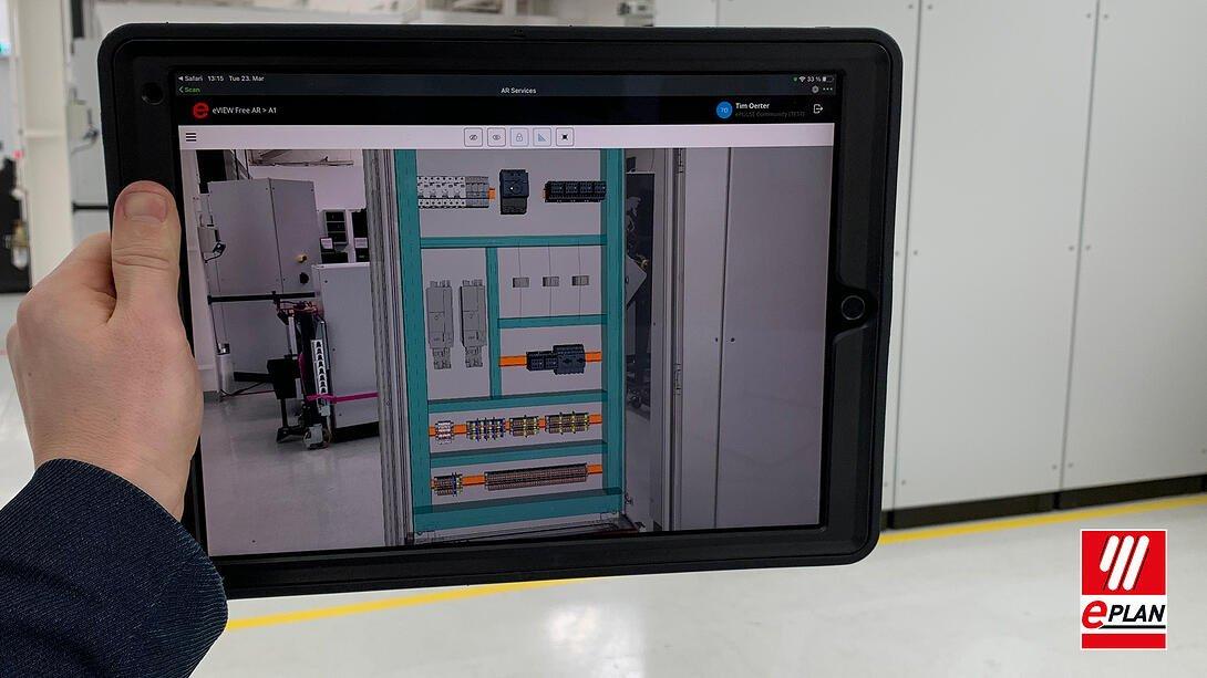 EPLAN AR on tablet
